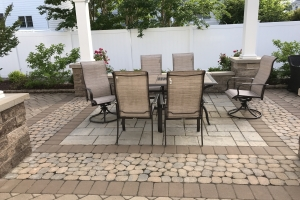 dining patio area manasquan brick by brick