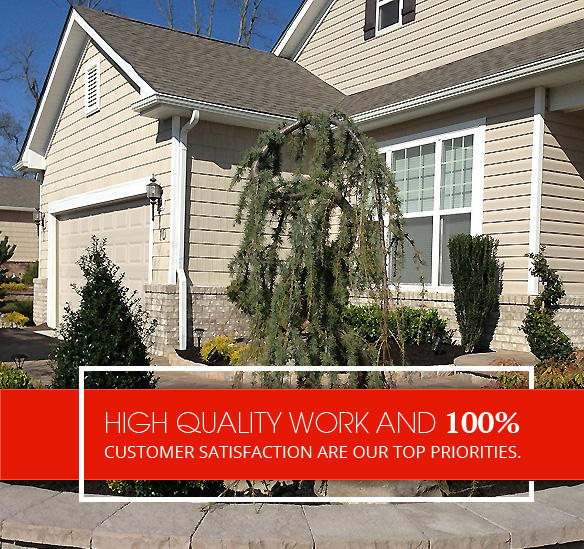 High quality work and 100% customer satisfaction are our top priorities.