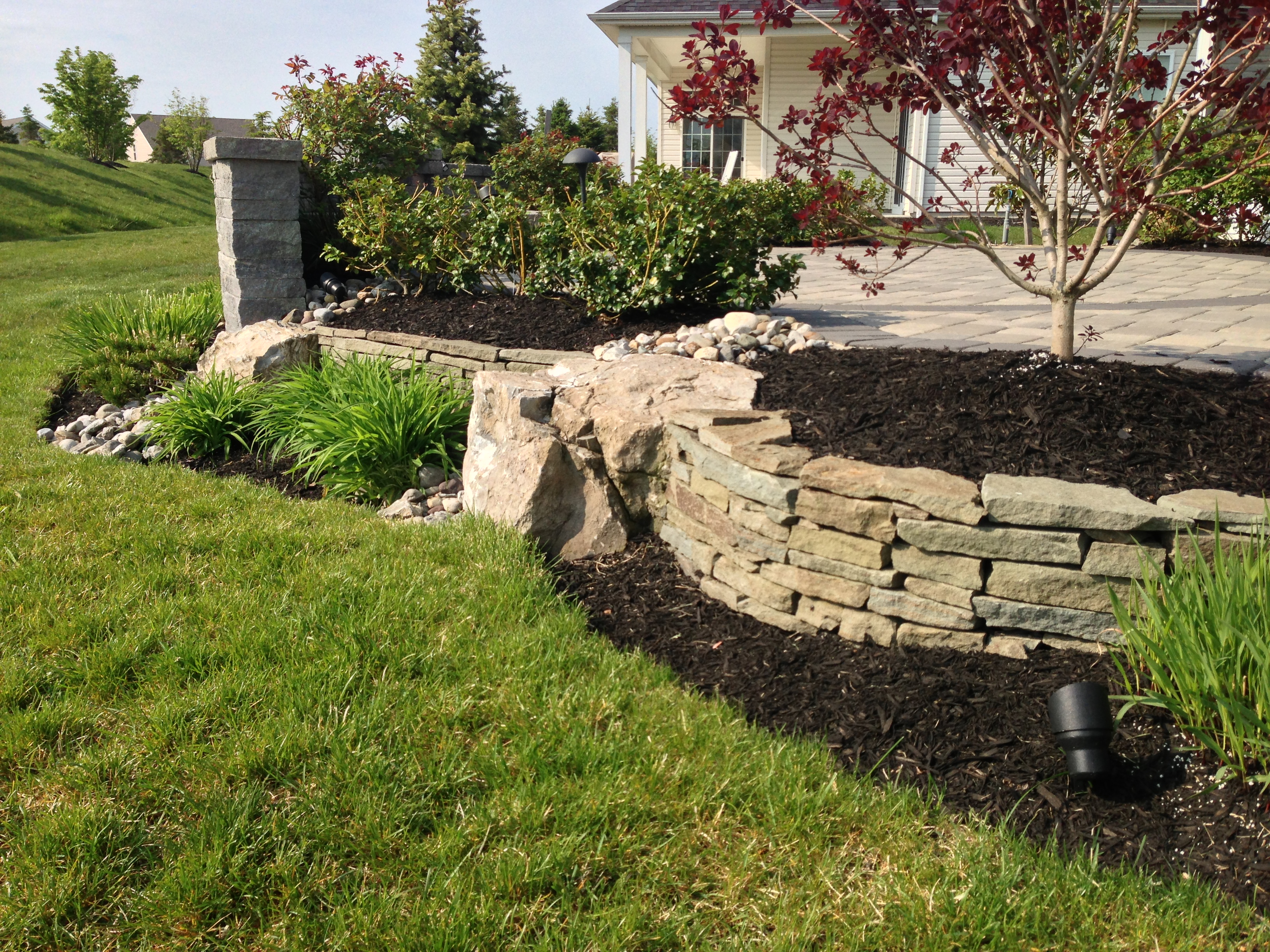 BOULDER AND FIELD STONE WALLS